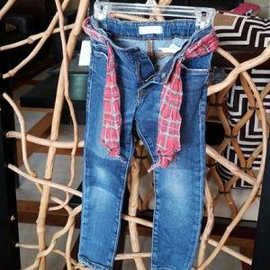 EUC Girl's Zara Distressed Denim Jeans sz 3-4Y